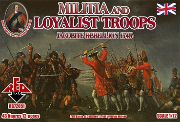 Jacobite Rebellions Militia and Loyalist Troops 1745