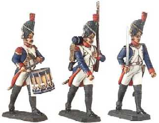 Set, French Imperial Guard - Infantrymen on Parade