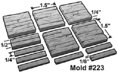 "1.5"" Trench Plank Mold"