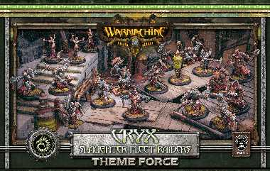 Cryx Slaughter Fleet Raiders Theme Force