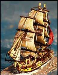 20-Gun Sloop, Battle Sails