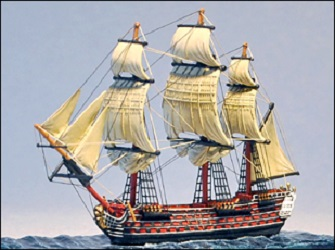 130 Gun Ship: Santissima Trinidad, Battle Sails