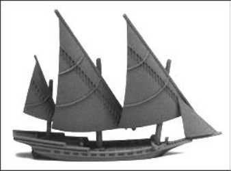 22-Gun Spanish Xebec, Battle Sails