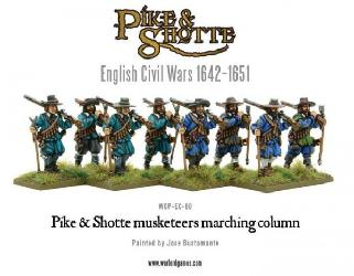 Pike & Shotte Musketeers marching column
