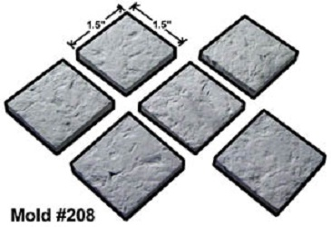"1.5"" Rock Floor Tiles Mold"